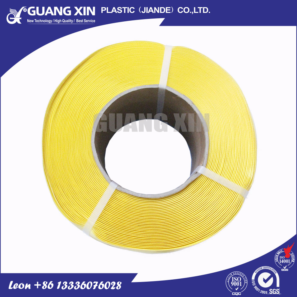 High strap tension insulation strapping