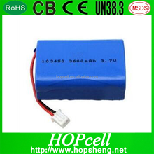 Custom rechargeable 4.2v 7.2v 1200mah battery pack