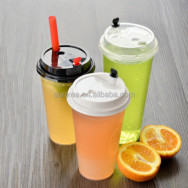 Disposable clear PP plastic bubble tea cups
