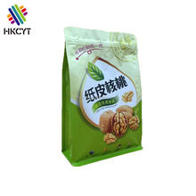 High quality plastic stand up flat bottom bag for dry fruits