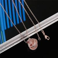 Copper Necklace Rose Gold Love Knot Cheap Bulk Jewelry
