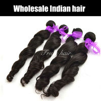 Indian loose wave hair 1pcs lot, 20inches, color#1b