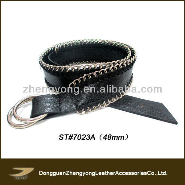 Janyo Wholesale Fashion Women Hand Tooled Leather Belts Without Buckle