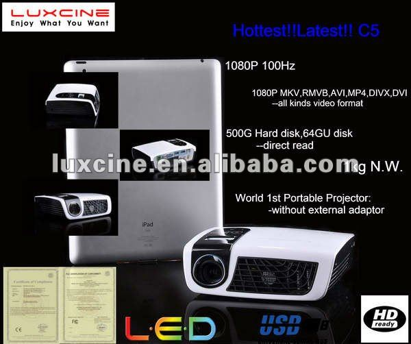 C5 1080P 100Hz DLP Mini Projector