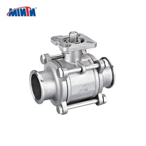 Stainless steel 304 316CF8 CF8M manual BSP NPT BSPT clamp 3pc ball valve High Platform
