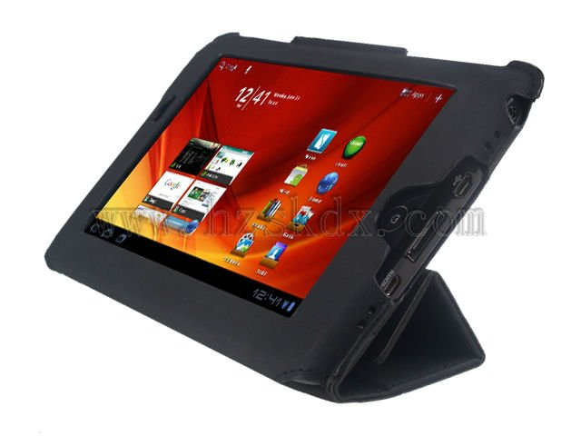 HIGH QUALITY LEATHER CASE FLIP STAND COVER FOR ACER ICONIA TAB A100 BLACK