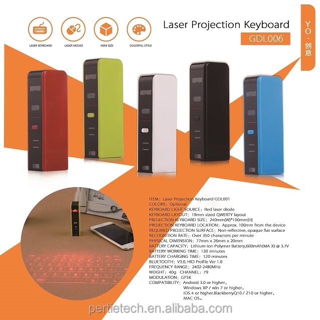 high speed bluetooth wireless mini portable virtual laser projection keyboard for tablet smart phone at low price