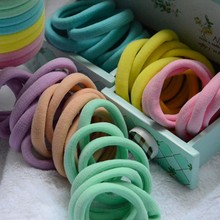 Hot sale candy towel hair band/elastic towel ring/flat hair tie