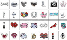 In stock wholesale glass memory locket for floating charm