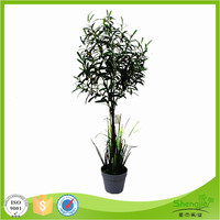 Newest product artificial indoor evergreen olive bonsai trees with fruits