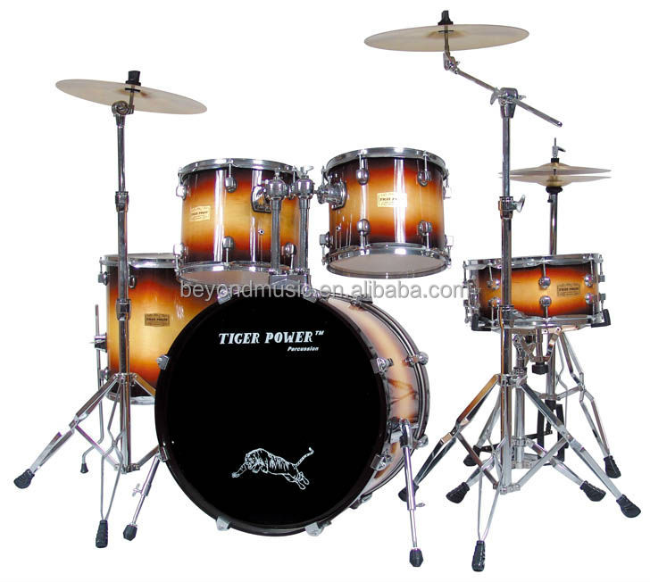 High-grade lacquer drum set (Tobacco burst finish)