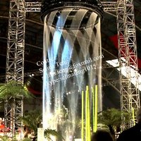 rain curtain water feature/graphic fountain