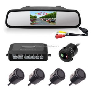 4.3inch car digital Anti glaring rearview mirror with wireless reverse camera and parking sensor for toyota car
