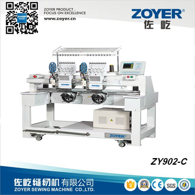 ZY902-<strong>C</strong> Zoyer DOUBLE HEADS TYPE CAP EMBROIDERY SEWING MACHINE
