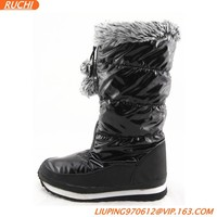 Womens Half Boots Winter Snow Boots With Soft Faux Fur Collar