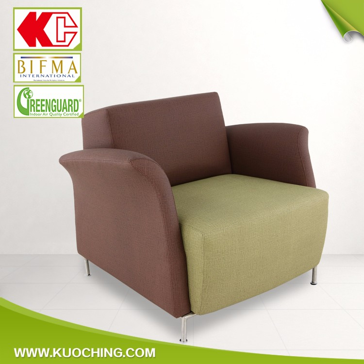 Concise Design Metal Frame Leather Single Seat Indoor Swing Sofa