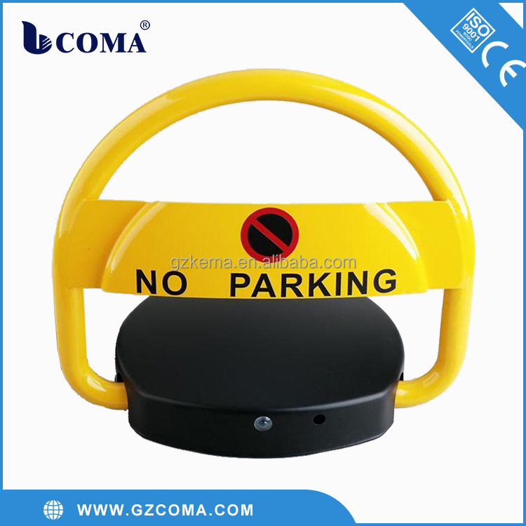 Remote control car parking blockers lock