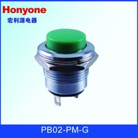 PB02-PM-G 16mm momentary metal push button switches