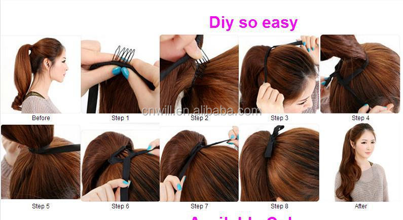 claw clip ponytail hair extensions synthetic hair ponytail 170grams color blonde