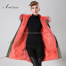 2015 eouropean style Watermelon winter long style women very warm coat,winter overalls for adults,elegant cheapest coat