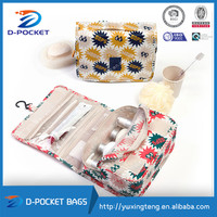 2015 New design folding large hanging travel toiletry bags for girs