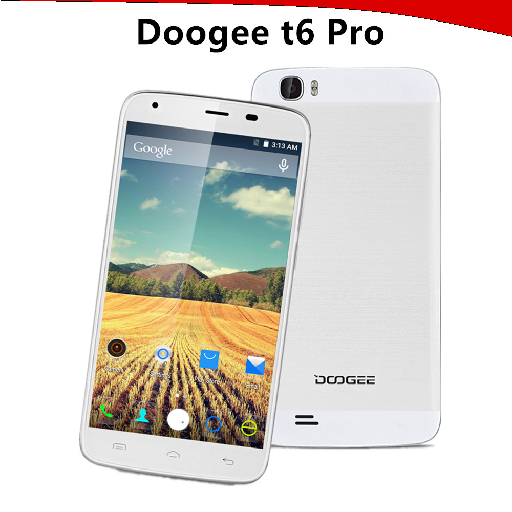 DOOGEE T6 Pro 5.5 inch 4G LTE Smartphone Android 6.0 MTK6753 Octa Core Mobile Phone Dual SIM 3GB RAM 32GB ROM 6250mAh Cellphone