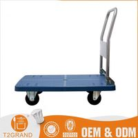 Wholesale Price Customize Plastic Board Designer Hand Push Cart / Carts Trolley