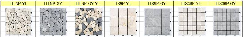 30X30 Cm Durable DIY Tile Garden Interlocking Floor tile with Natural Stone