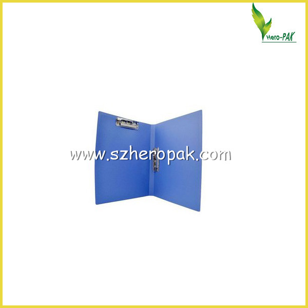 Nice printing A4 plastic file folder with 2 metal clips