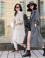 2017 fall winter western latest design vintage coat korea used long coats Windbreake oversize desiner trench girl overcoat