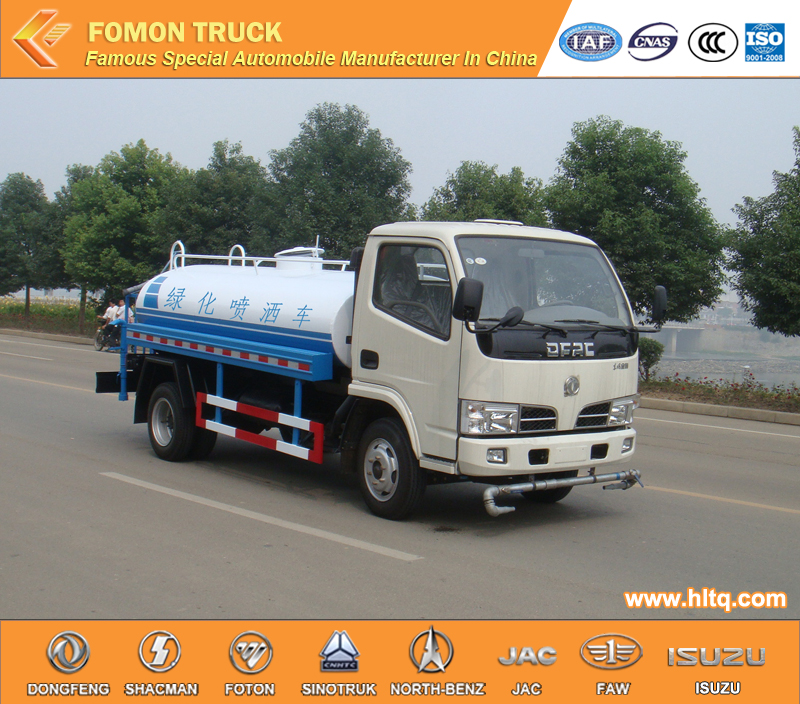 Dongfeng small stainless steel water tank truck cheap price