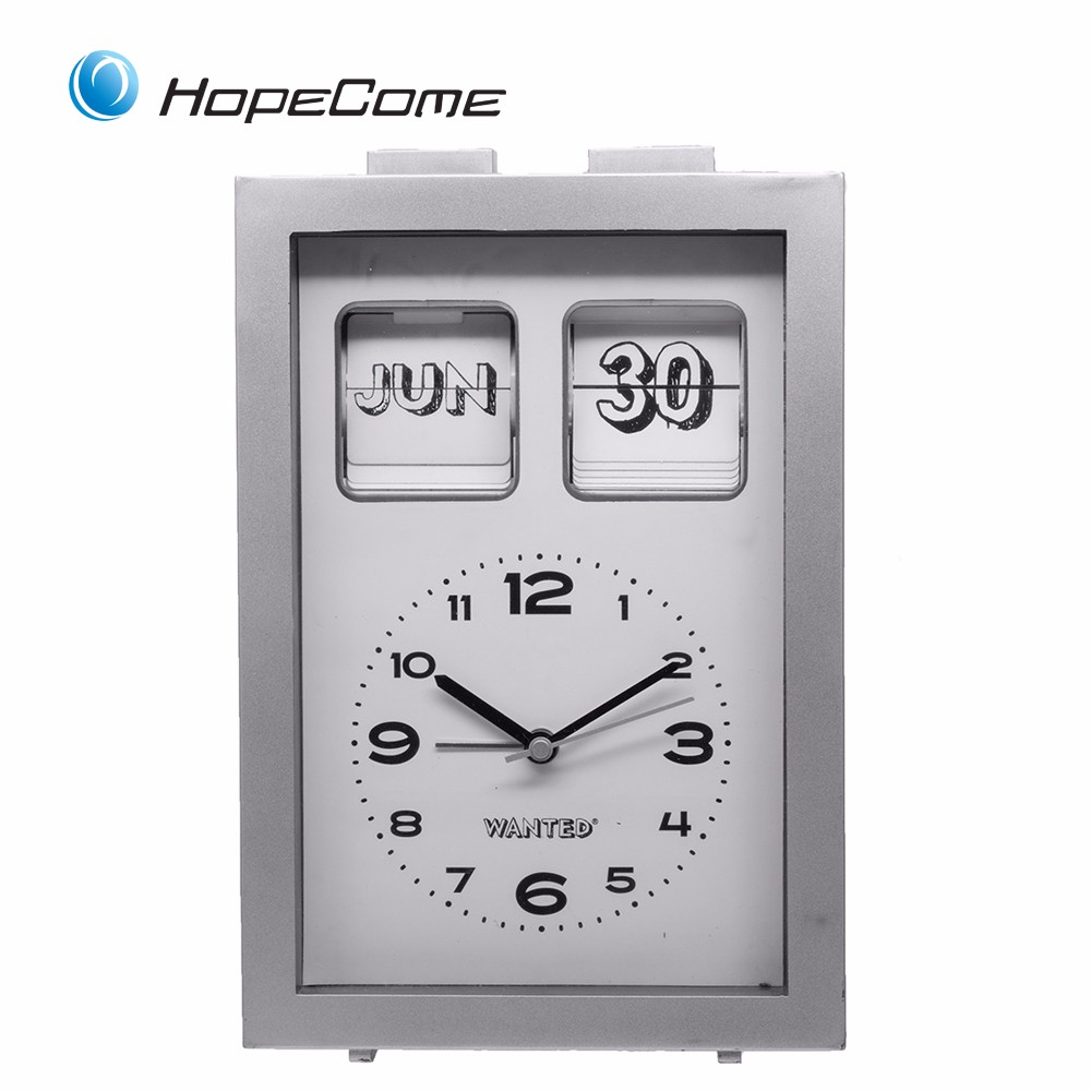 Plastic Battery Operated Calendar Clock For Family