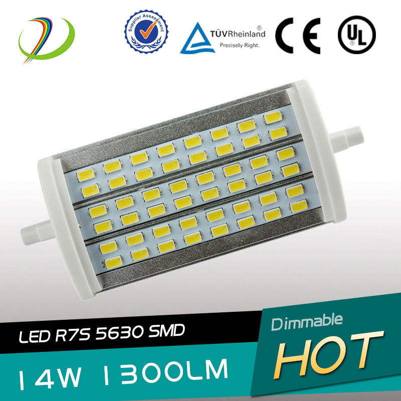 Dimmable R7S LED High brightness LED 78mm 118mm 138mm 189mm dimmable R7s 48pcs 5630SMD r7s slim 118mm led replacement 500w halog