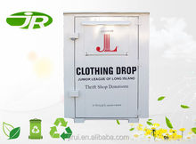 Refuse Collector Type Metal clothing donations bin