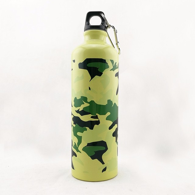 christmas new cheap gift bottle army green aluminum water bottle for outdoor