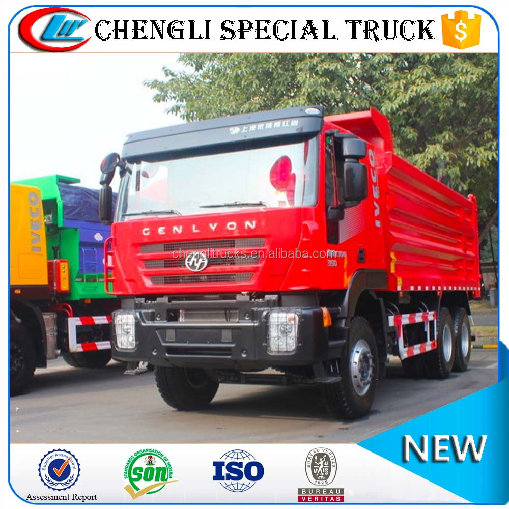 Cheap Price 25 cubic meters 10 wheel Iveco Hongyan Genlyon 6X4 Heavy Dump Truck 30 ton 40 ton for sale
