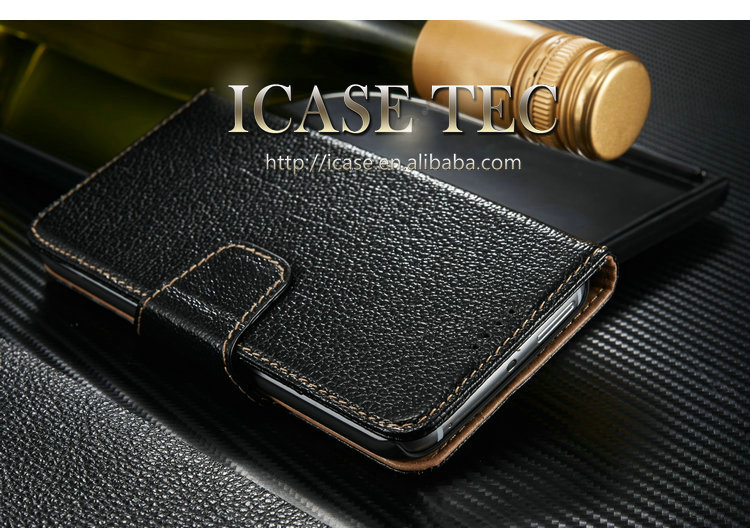 Protective for Samsung S6 Edge genuine leather wallet case for Samsung S6 Edge