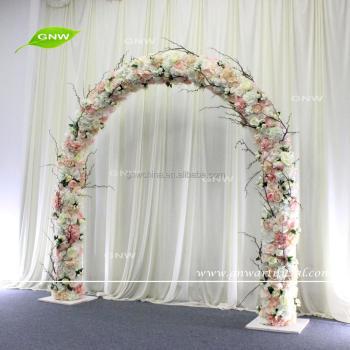 GNW FLWA1707013 Fake Blossom Flower Arch Craftsmanship Decoration Wedding Arches