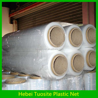 LLDPE plastic stretch film Jumbo rolls pallet wrapped film 25MICRONX500MM (REWINDING MACHINE PROVIDED)