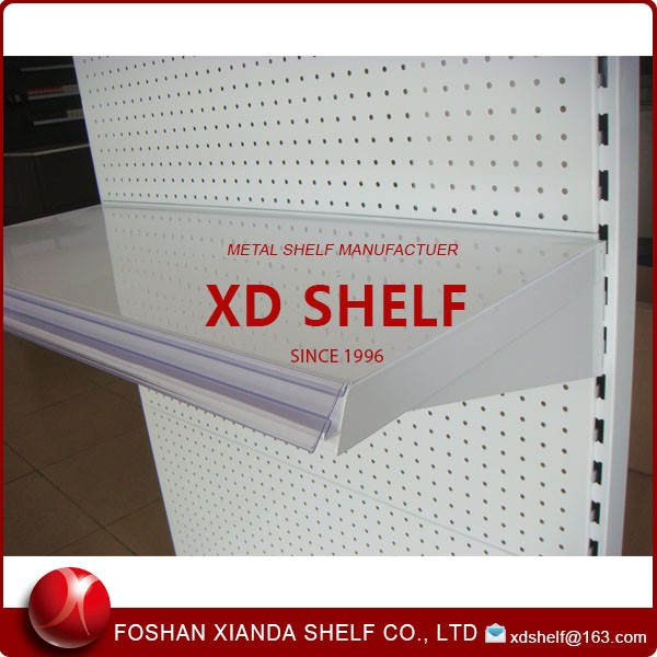 Metal Heavy Shelf Support With Plastic Price Tag