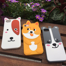 Cute animal silicone cover case for iPhone 7 7 Plus, Smart silicone case for iPhone 6 6 Plus