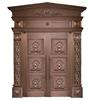 Double Exterior Copper Door,Luxury Modern Front Security Church Copper Antique Door