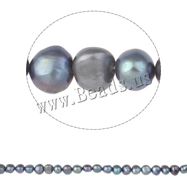 Free Shipping A 8-9mm Hole:Approx 0.8mm Length:15Inch natural grey Potato Cultured Freshwater Pearl Beads Jewelry Making NEW Hot