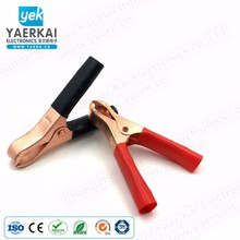 high quality solid copper crocodile battery terminal clip with boot