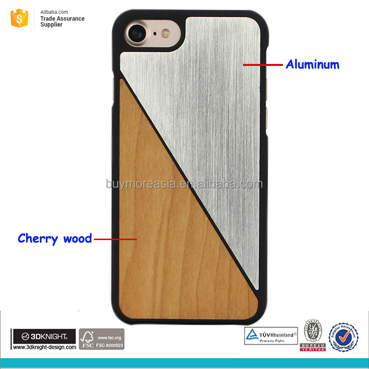 Electroplate aluminum and pc hard phone case for iphone 7 7plus