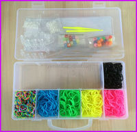 New designed European top selling DIY loom bands box kit colorful silicon rubber band