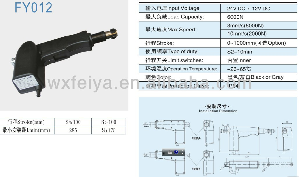 operation table linear actuator lift motor systems