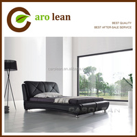 chinese real leather upholstered bed C317