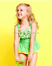 Fashionable Sexy Junior Teenage Girls One Piece Swimwear Teenage Flower Swimsuit