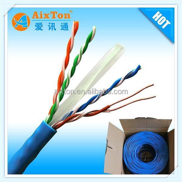 Superior performance 4 pair solid copper conductor cat 6 lan cable 250MHz bandwidth